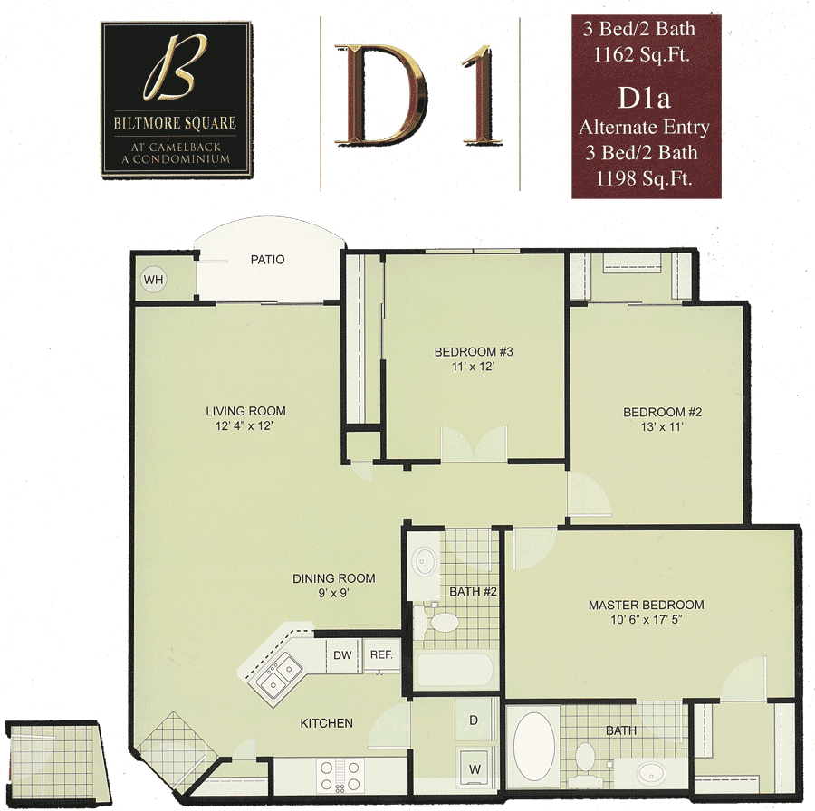 Biltmore Square D1: 3 Bedroom