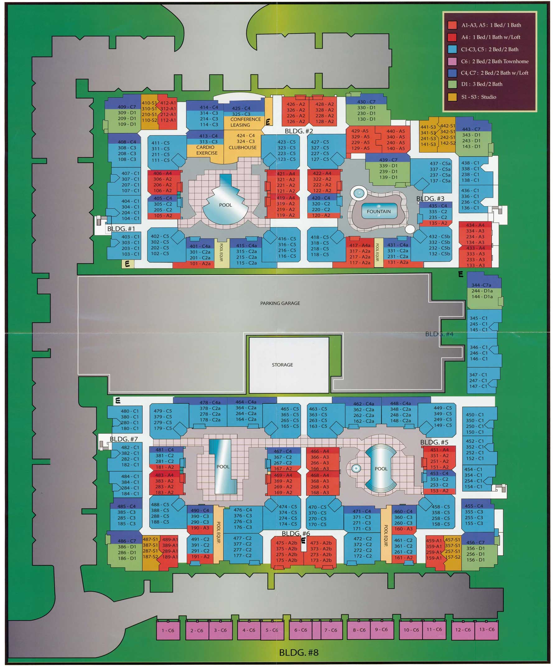 Biltmore Square BS Unit Layout