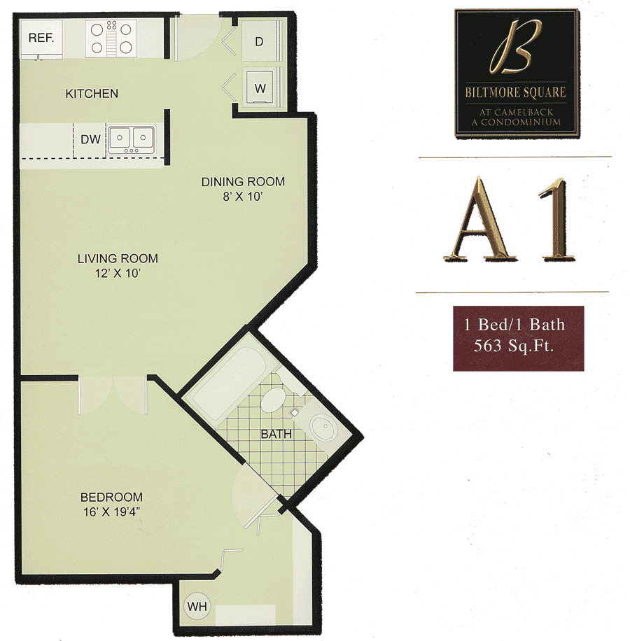 Biltmore Square A1: Small 1 Bedroom