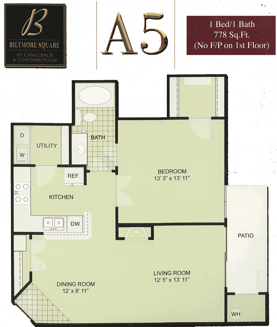 Biltmore Square A5: 1 Bedroom w/ Balcony