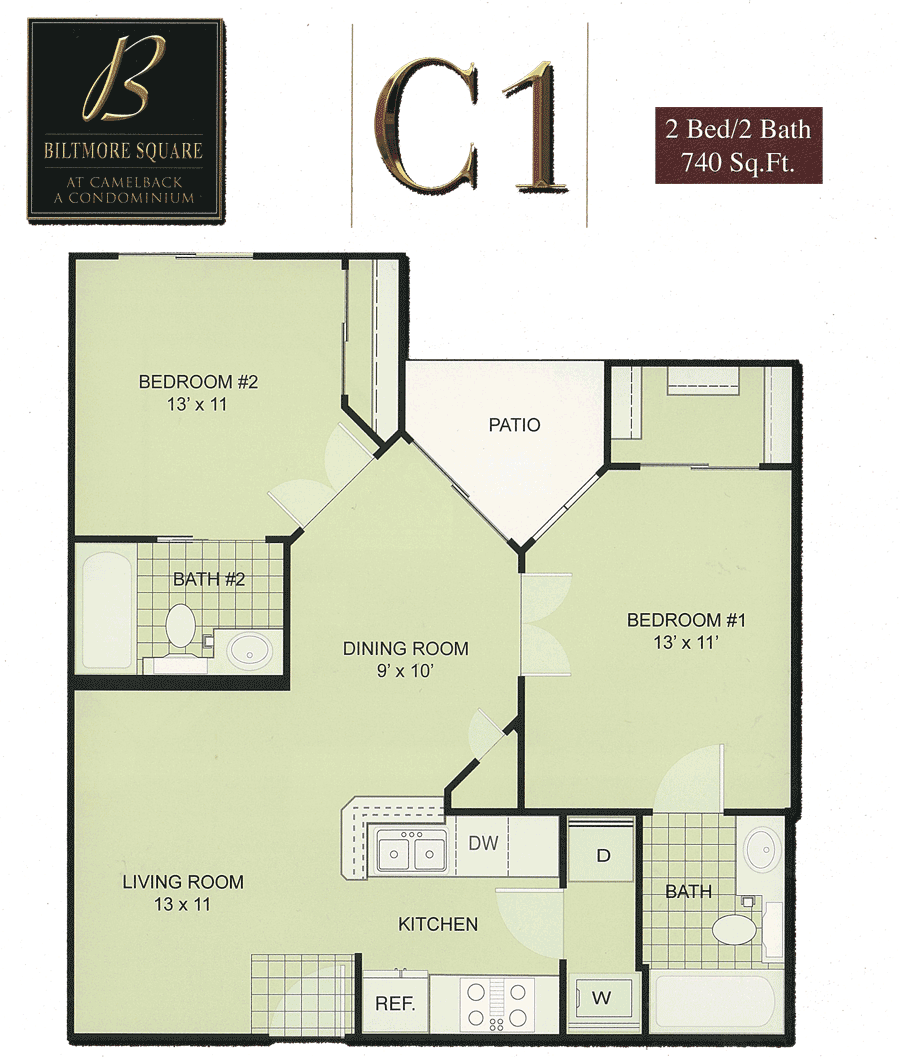 Biltmore square condo floor plans Small condo plans