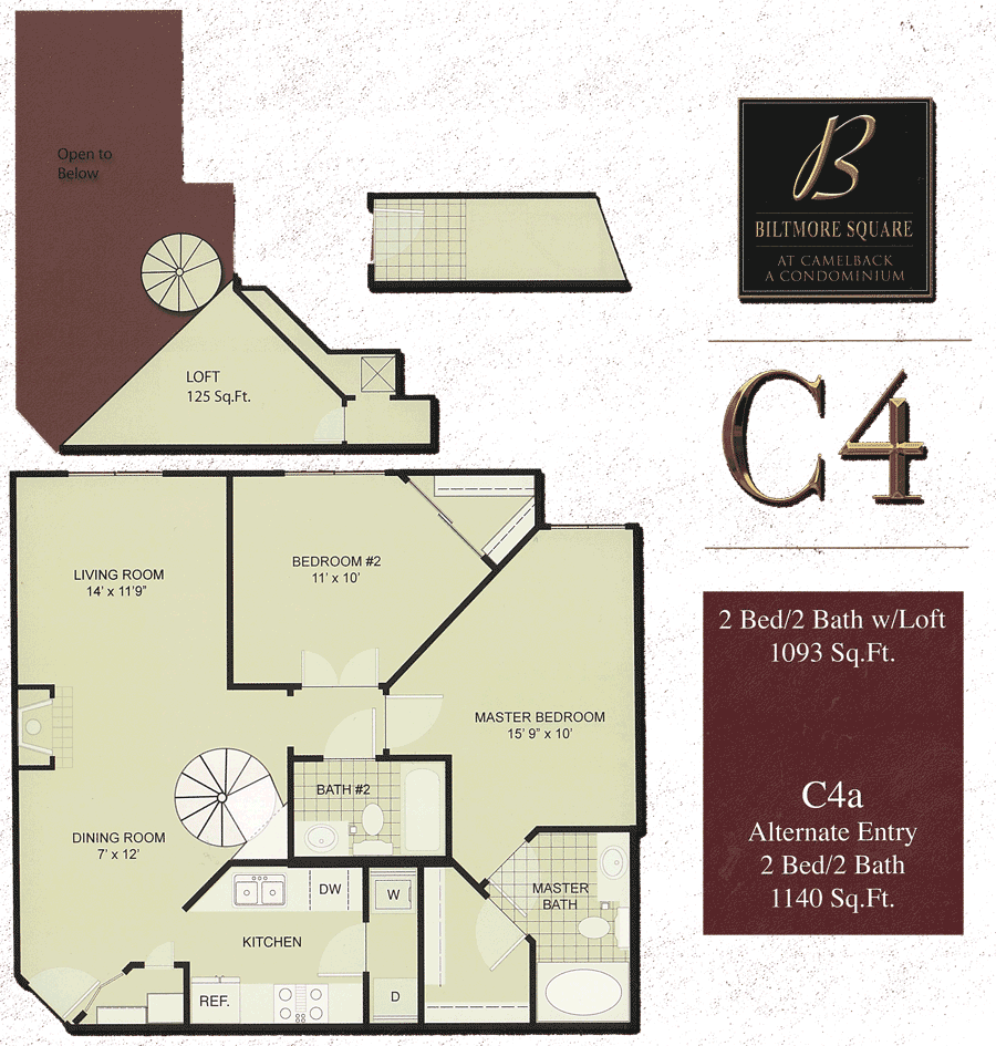Biltmore Square C4: 2 Bedroom w/ Loft