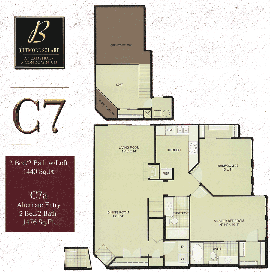 Biltmore Square C7: Large 2 Bedroom w/ Loft